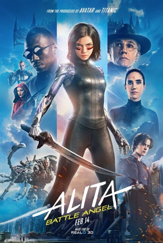 JENNIFER CONNELY and ROSA SALAZAR - Alita: Battle Angeles Posters and Trailer
