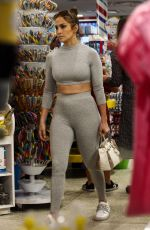 JENNIFER LOPEZ in Tights Shopping Candy in Miami 02/16/2019