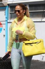 JENNIFER LOPEZ Leaves a Gym in Miami 02/22/2019