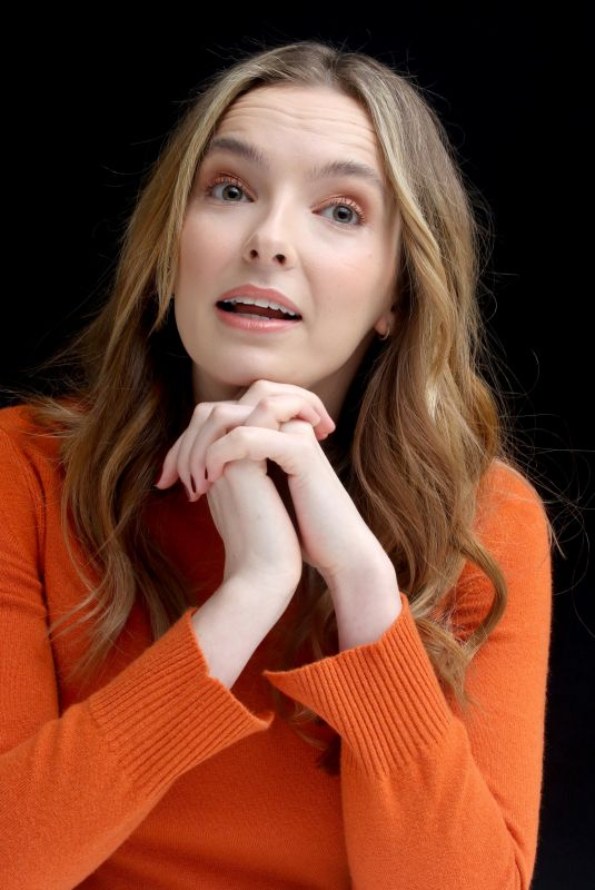 JODIE COMER at Killing Eve Press Conference in Los Angeles 02/07/2019