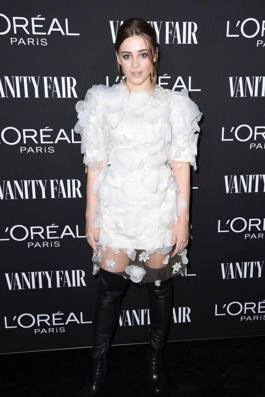 JOSEPHINE LANGFORD at Vanity Fair & L'Oreal Paris Celebrate New Hollywood in Los Angeles 02/19/2019