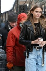 JOSEPHINE SKRIVER on the Set of Maybelline Commercial in New York 02/01/2019