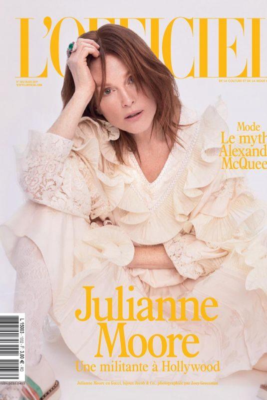 JULIANNE MOORE on L'Officiel Paris, March 2019
