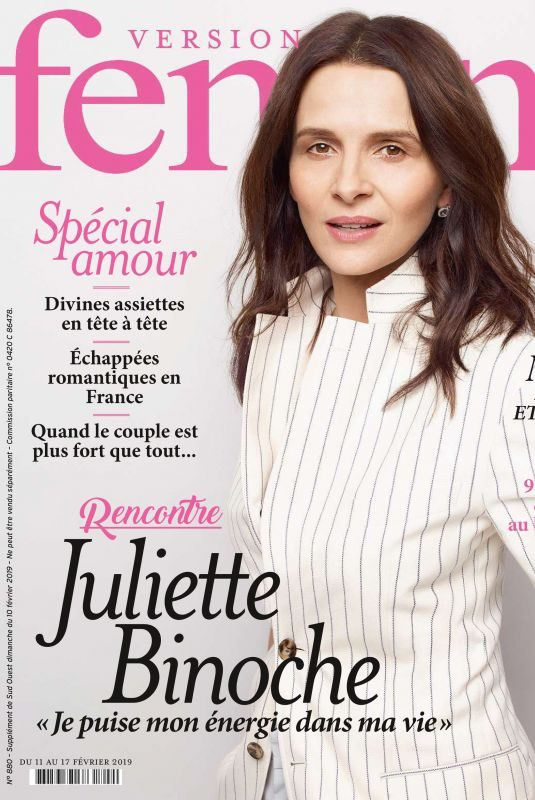 JULIETTE BINOCHE in Femina Magazine, February 2019