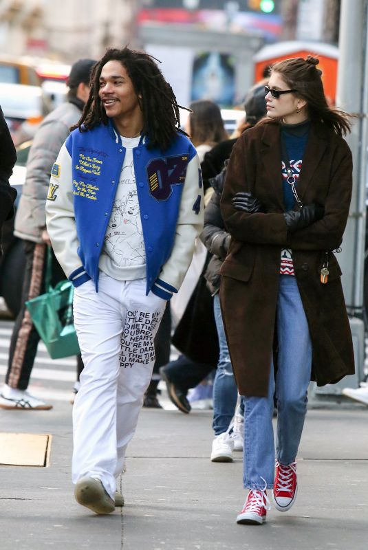 KAIA GERBER and Luka Sabbat Out in New York 02/17/2019