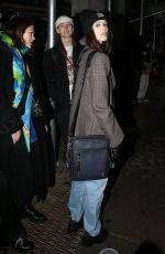 KAIA GERBER Arrives at Coach Show at New York Fashion Week 02/12/2019