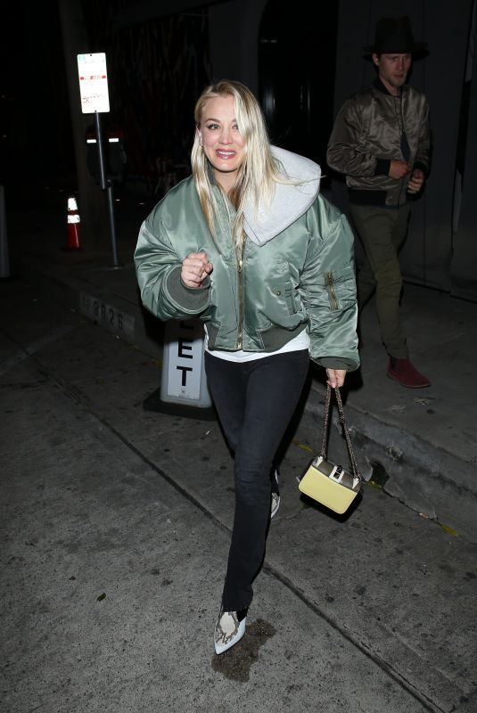 KALEY CUOCO at Craig's Restaurant in West Hollywood 02/22/2019