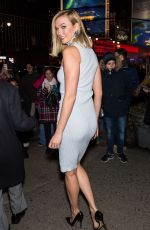 KARLIE KLOSS Leaves Brandon Maxwell Show at New York Fashion Week 02/09/2019