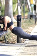 KAT GRAHAM Out Jogging in Los Angeles 02/05/2019