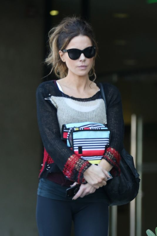 KATE BECKINSALE Leaves a Medical Office in Los Angeles 02/08/2019