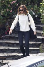 KATE BECKINSALE Leaves Her Home in Brentwood 02/05/2019