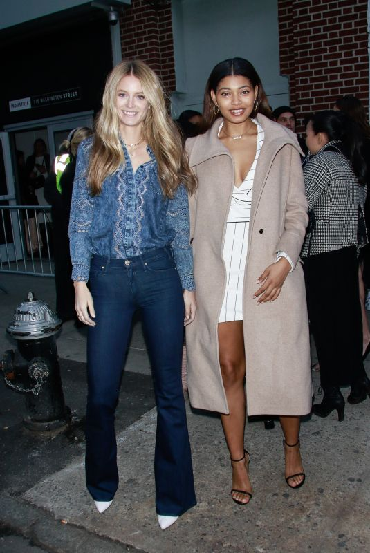 KATE BOCK and DANIELLE HERRINGTON Arrives at Jonathan Simkhai Show at New York Fashion Week 02/10/2019