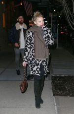 KATE HUDSON Leaves Greenwich Hotel in New York 02/15/2019