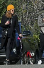 KATE MARA and Jamie Bell Out with Their Dogs in Los Angeles 02/18/2019
