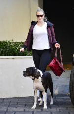 KATE UPTON Out With Her Dog in Los Angeles 01/31/2019