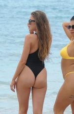 KATIE SALMON and INDIA JENNINGS in bikinis at a Beach in Cape Verde 01/20/2019