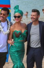 KATY PERRY, Lionel Richie, Ryan Seacrest and Luke Bryan on the Set of Aamerican Idol 01/29/2019