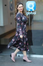 KELLY BROOK Arrives at Heart Radio in London 02/15/2019