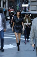 KENDALL JENNER Arrives at Longchamp Show in New York Fashion Week 02/09/2019