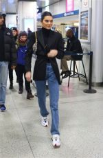 KENDALL JENNER at Penn Train Station in New York 02/12/2019