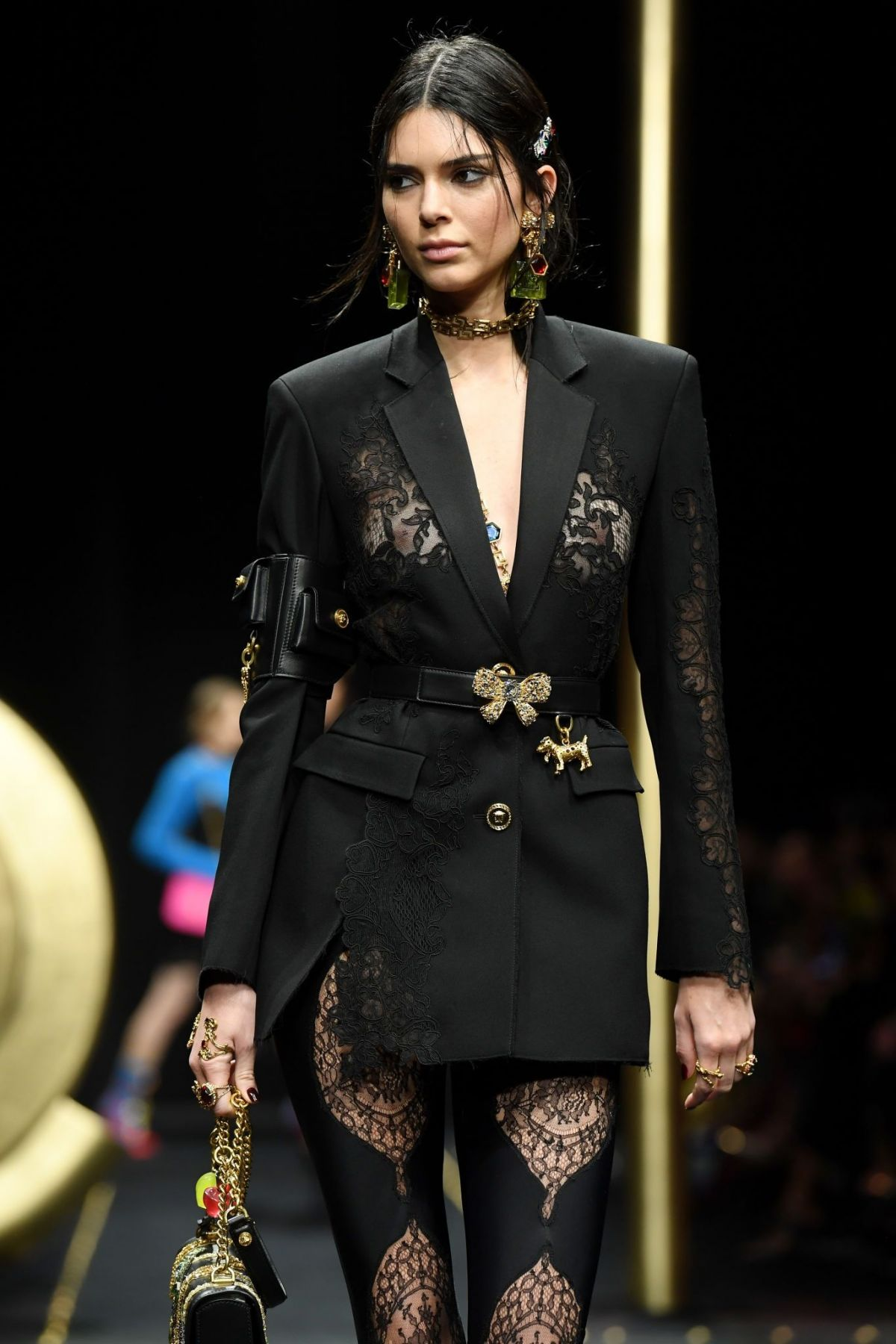 KENDALL JENNER at Versace Runway Show at Milan Fashion ...