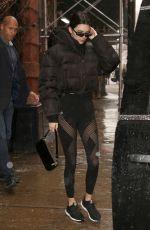 KENDALL JENNER Leaves Gotham Gym in New York 02/12/2019