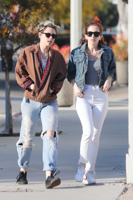 KRISTEN STEWART and SARA DINKIN at Out in Los Angeles 02/16/2019