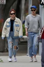 KRISTEN STEWART and SARA DINKIN Heading to a Spa in Los Angeles 02/13/2019