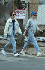 KRISTEN STEWART and SARA DINKIN Heading to a Spa in Los Angeles 02/13/2019