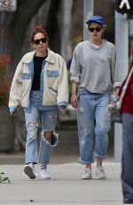 KRISTEN STEWART and SARA DINKIN Out in Los Angeles 02/13/2019