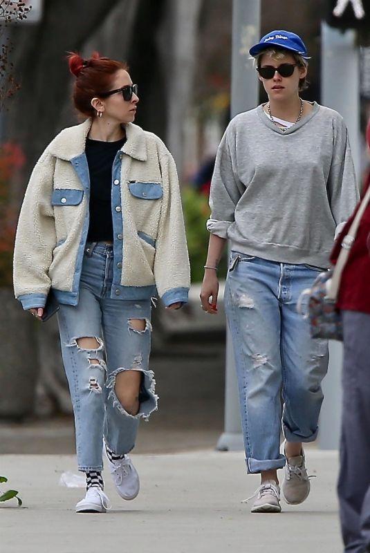 KRISTEN STEWART and SARA DINKIN Out in Los Angeles 02/13/2019