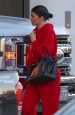 KYLIE JENNER Arrives at Milk Studio in Los Angeles 02/06/2019