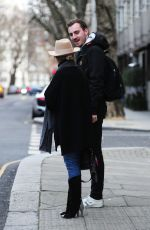 KYLIE MINOGUE Out and About in London 01/31/2019