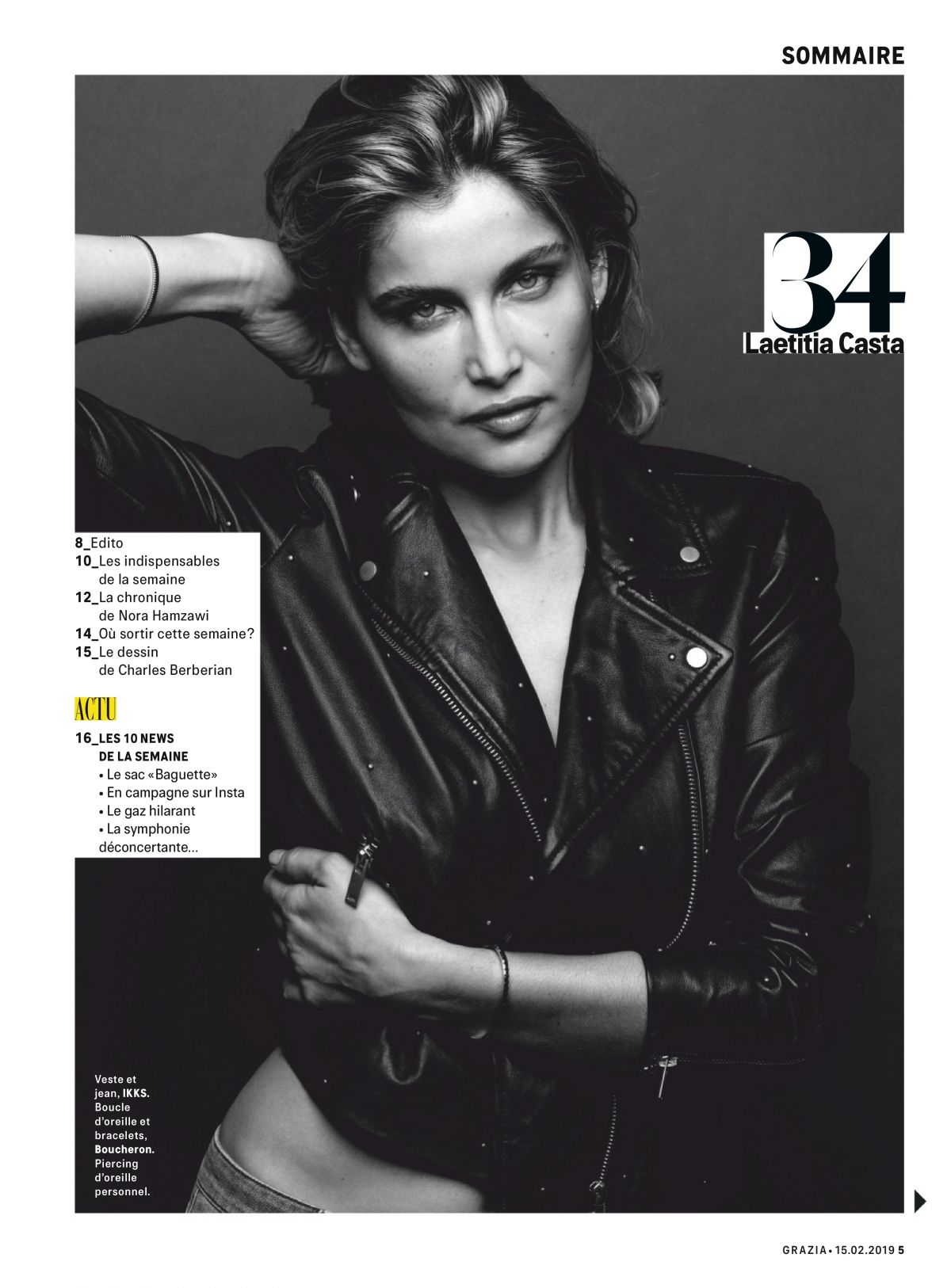 70edd525a0 LAETITIA CASTA in Grazia Magazine, France February 2019 – HawtCelebs