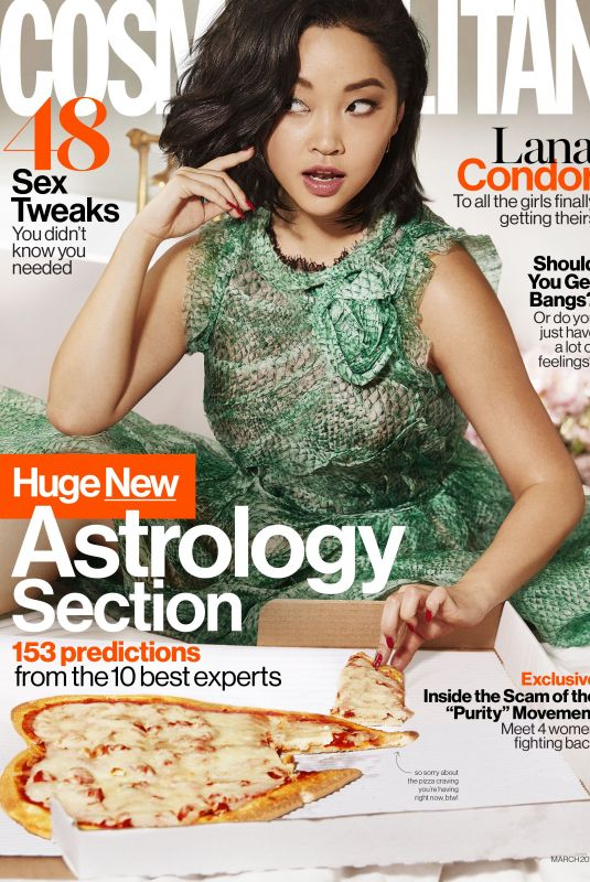 LANA CONDOR in Cosmopolitan Magazine, March 2019