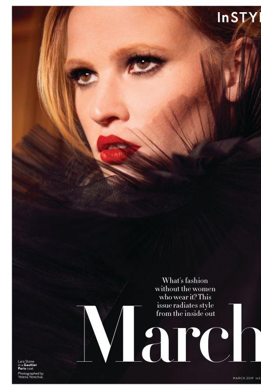 LARA STONE in Instyle Magazine, February 2019