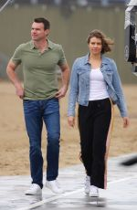 LAUREN COHAN and Scott Foley on the Set of Whiskey Cavalier 02/04/2019
