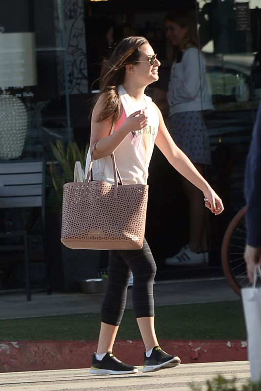 LEA MICHELE Out and About in Los Angeles 01/30/2019