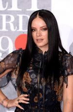 LILY ALLEN at Brit Awards 2019 in London 02/20/2019