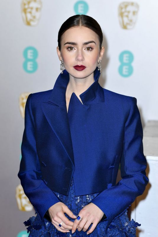 LILY COLLINS at Bafta Awards 2019 in London 02/10/2019