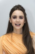 LILY COLLINS at Les Miserables Press Conference in Beverly Hills, February 2019