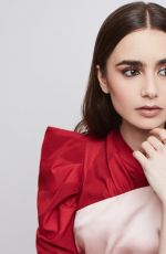 LILY COLLINS on the Set of a Photoshoot, February 2019