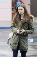 LILY COLLINS Out Shopping in West Hollywood 02/05/2019