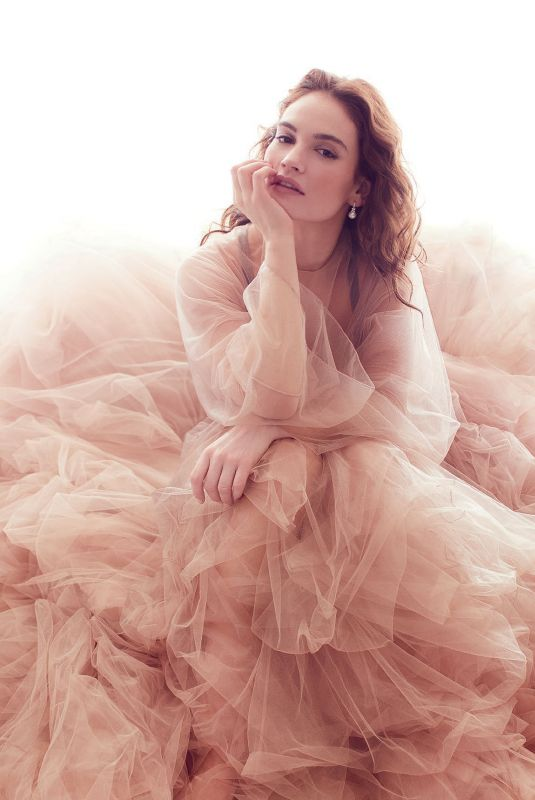 LILY JAMES for Harper