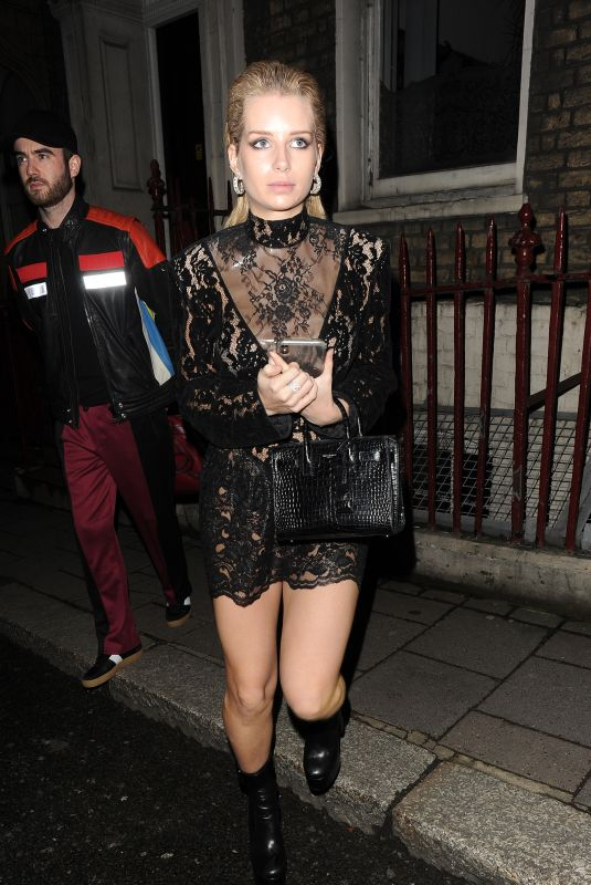LOTTIE MOSS Arrives at The Love Magazine Party in London 02/18/2019