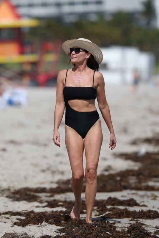 LUANN DE LESSEPS in Bikini on the Beach in Miami 02/12/2019