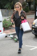 LUCY HALE Leaves Kate Somerville in West Hollywood 02/20/2019