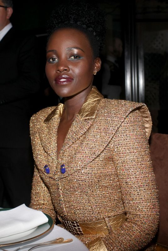 LUPITA NYONG'O at Charles Finch and Chanel's Pre-oscar Dinner in Los Angeles 02/23/2019