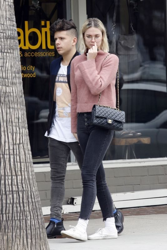 MAIA MITCHELL and Rudy Mancuso at Alfred's in Studio City 02/27/2019