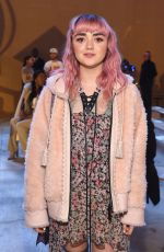 MAISIE WILLIAMS at Coach Fashion Show at NYFW in New York 02/12/2019